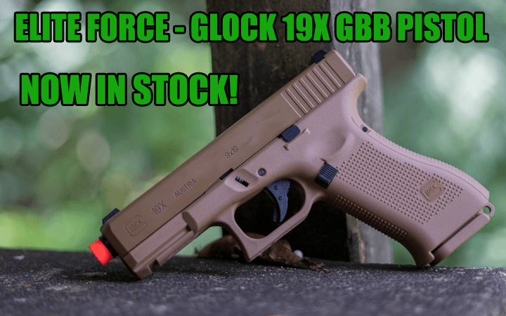 amped airsoft elite force tan glock 19x available now
