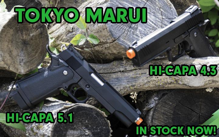 amped airsoft tokyo marui hi-capa 4.3 5.1 gbb pistols