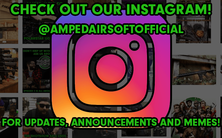 amped airsoft instagram social media updates announcements and memes