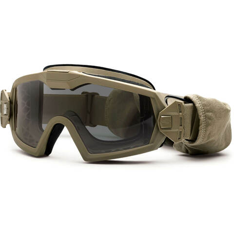 0566079740 Smith Optics Elite - Outside The Wire (OTW) Turbo Fan Goggles Field Kit  (Tan Frame   Clear   Grey Lens) - Amped Airsoft