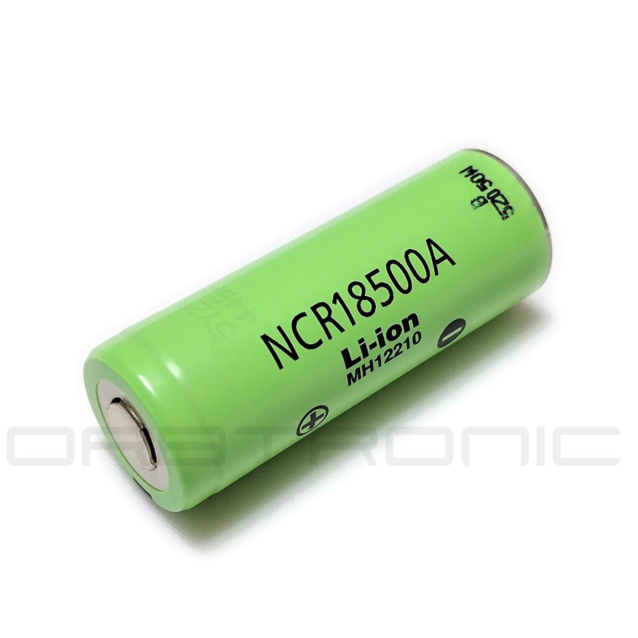 18500 Battery Panasonic NCR18500A li-ion Rechargeable Flat Top 3 7V 2040mAh