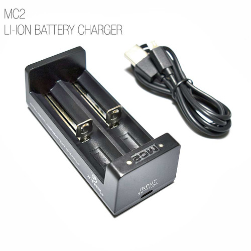 XTAR MC2 USB Portable Battery Charger - 18650, 14500, 16340, 26650, 16650 Li-ion / IMR