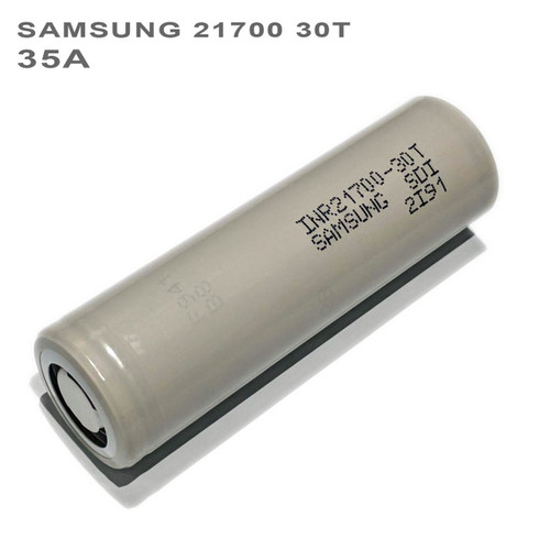 Samsung 30T 21700 Battery INR21700-30T 3000mAh 35A Rechargeable Flat Top Li-ion