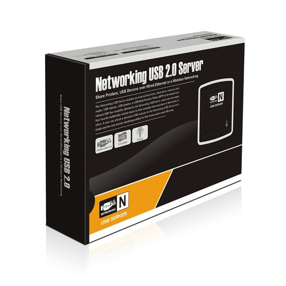 Network USB 2.0 Server (Share Printer, Webcam, Hard Drive)