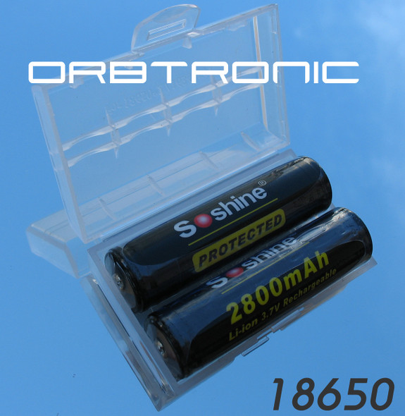 18650 2800mAh PROTECTED 3.7V Li-ion Two Batteries