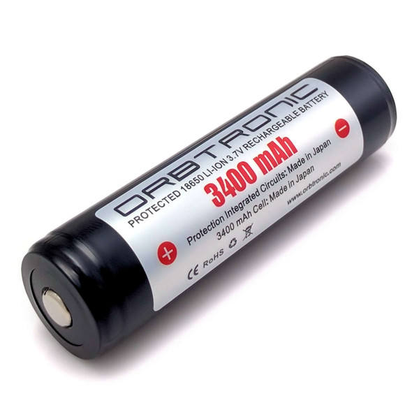18650 Protected 3400mAh Li-ion Rechargeable Battery Orbtronic