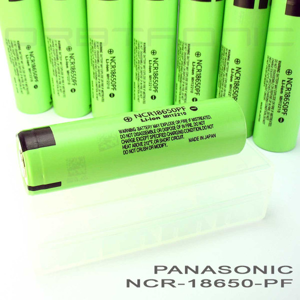 Panasonic NCR18650PF 18650 10 Amp. 2900mAh Hybrid IMR (NCR) Li-ion Rechargeable Battery - Flat Top - High Drain