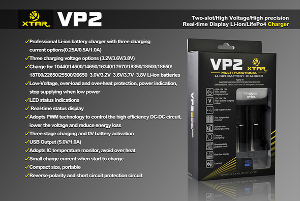 Xtar VP2 Battery Charger