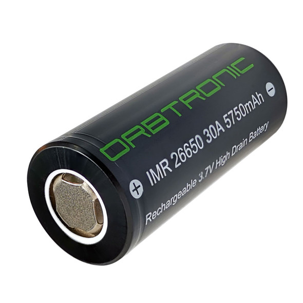 26650 battery 5750mAh li-ion IMR 3.7V Orbtronic rechargeable
