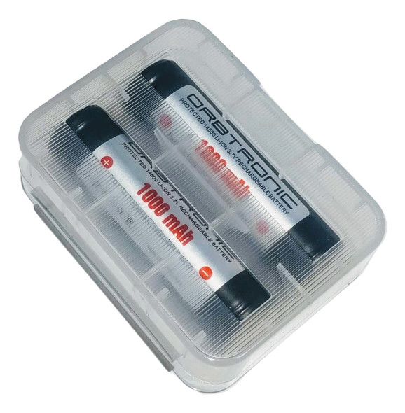 FREE CASE INCLUDED WITH EACH PAIR PURCHASED-14500 Protected Battery 1000mAh Orbtronic 3.7V