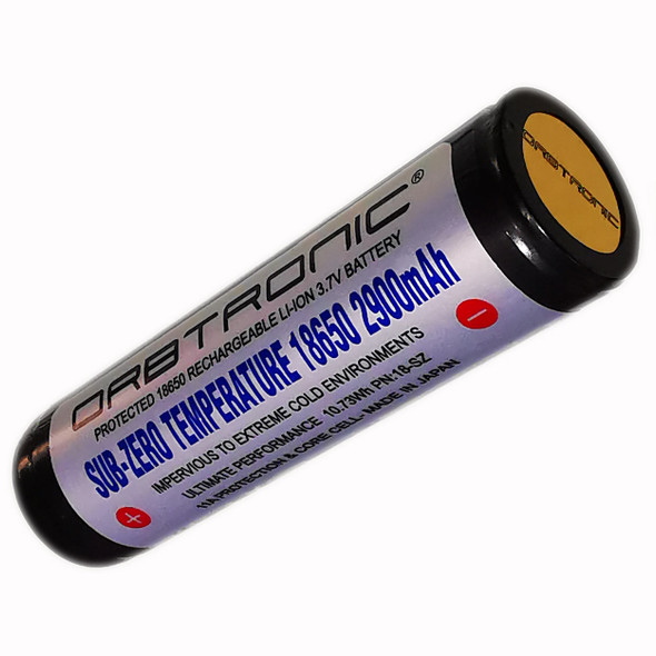 Sub-Zero Low Temperature 18650 Protected High Performance Li-ion 3.7V Battery Rechargeable