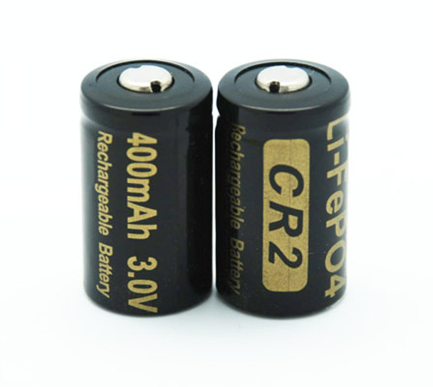 CR2 Battery Rechargeable Li-ion 3V (Two Batteries) Lithium-ion 15270 - Battery case Included