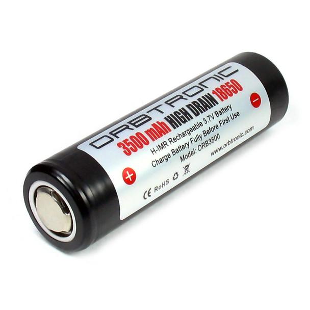 3500mAh 18650 High Drain Hybrid IMR Rechargeable Battery 3.7V Flat Top Orbtronic