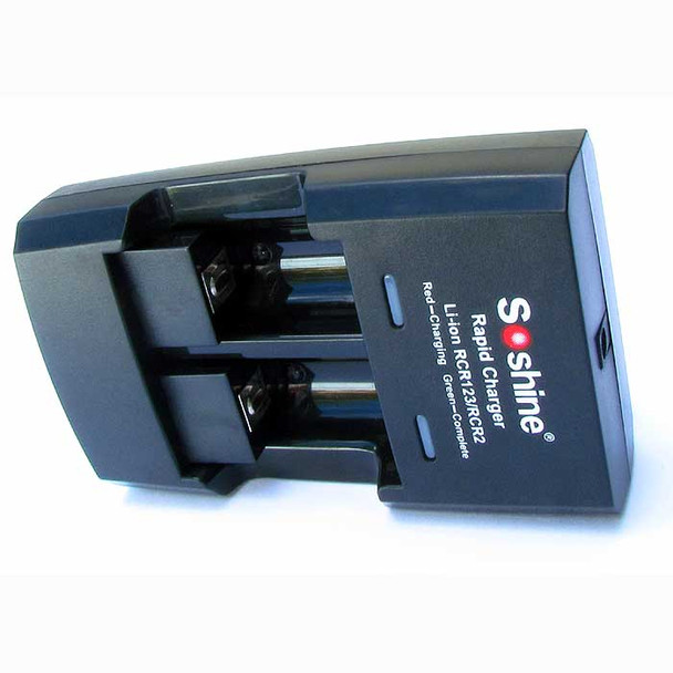 Rapid Smart Charger for CR2 CR123 16340 Rechargeable Lithium-ion (Li-ion) Batteries