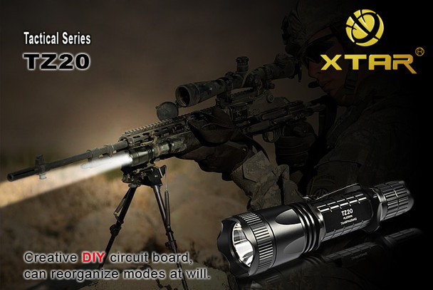 Xtar Tactical TZ20 LED Flashlight Cree XR-E Q5 Mode DIY