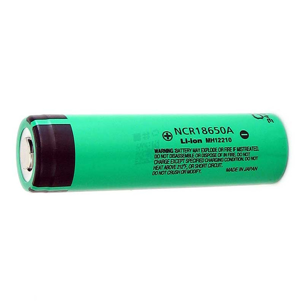 18650 Battery Panasonic NCR18650A 3100mAh Li-ion Flat Top
