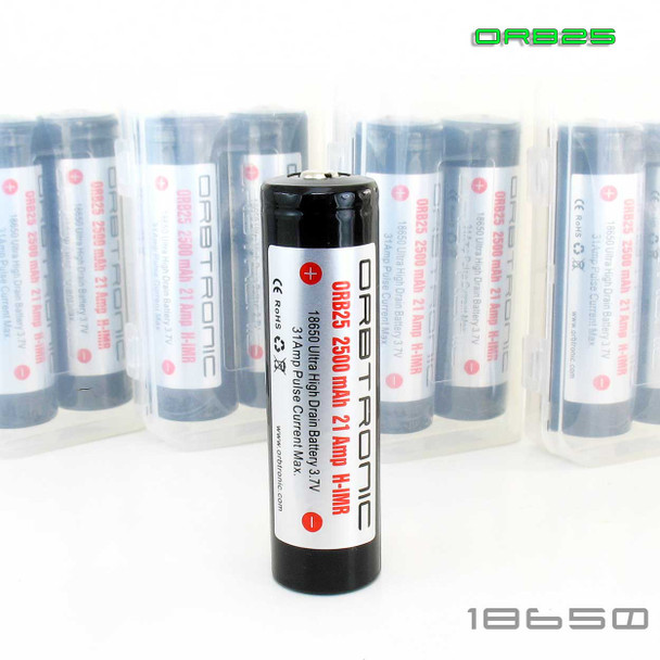 IMR 18650 2500mAh High Drain ORB25 rechargeable 3.7V Battery