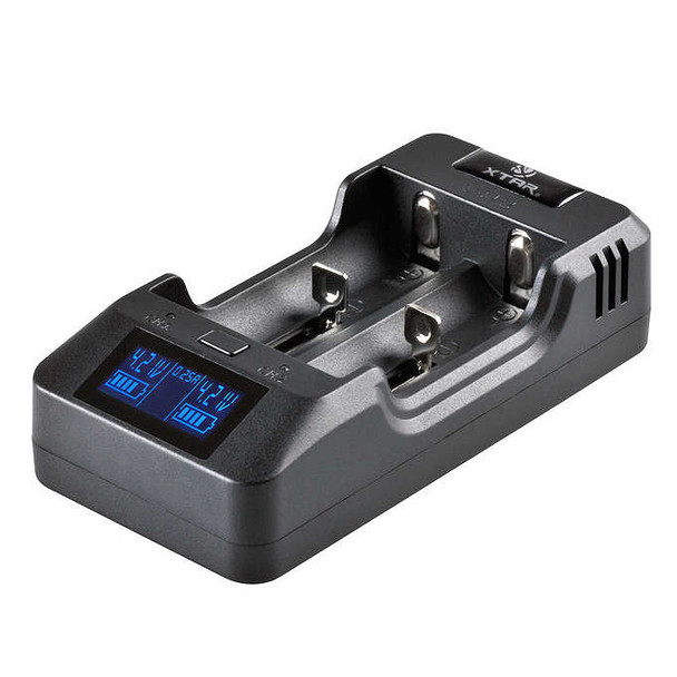 Xtar VP2 Battery Charger - LCD display- 3 speeds for Li-ion 18650 18500 18350 16340 26650 batteries