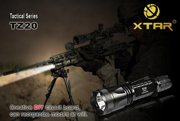 Xtar Tactical TZ20 LED Flashlight Cree XR-E Q5 Mode DIY