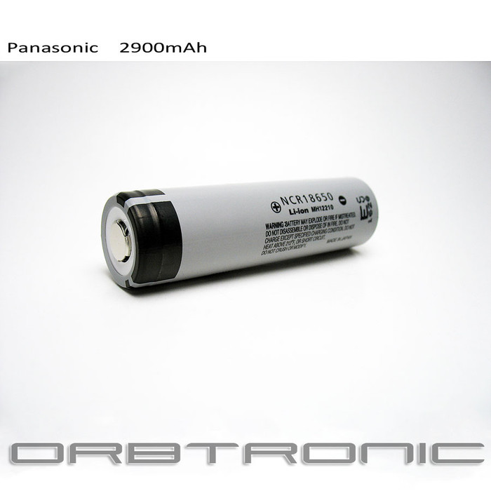 18650 Battery li-ion Cell Panasonic Rechargeable 2900mAh NCR18650 3.7V-3.6V