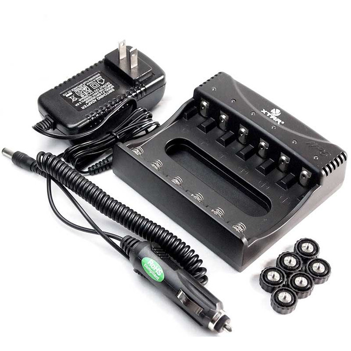 Xtar WP6 II Smart 6 Channels Li-ion Battery Charger for 18650/ 14500/ 10440/ 16340  3.7V Batteries
