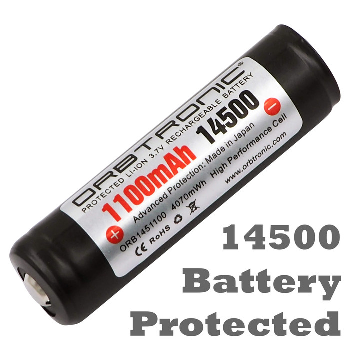 14500 Battery Li-ion Protected Rechargeable 3.7V Button top cell