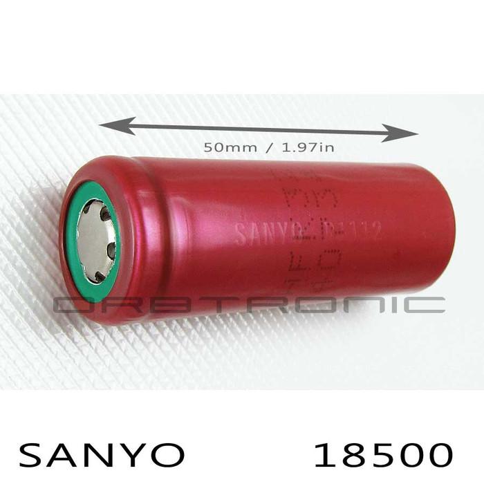 18500 SANYO 3.7V Li-ion Rechargeable Battery 1700mAh UR18500FK