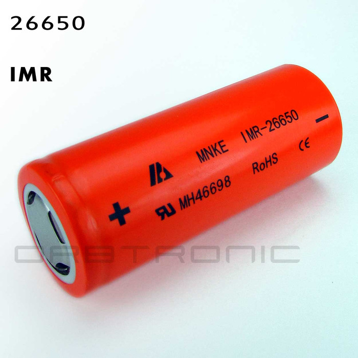 IMR 26650 MNKE Battery Cell 3800mAh Li-Mn