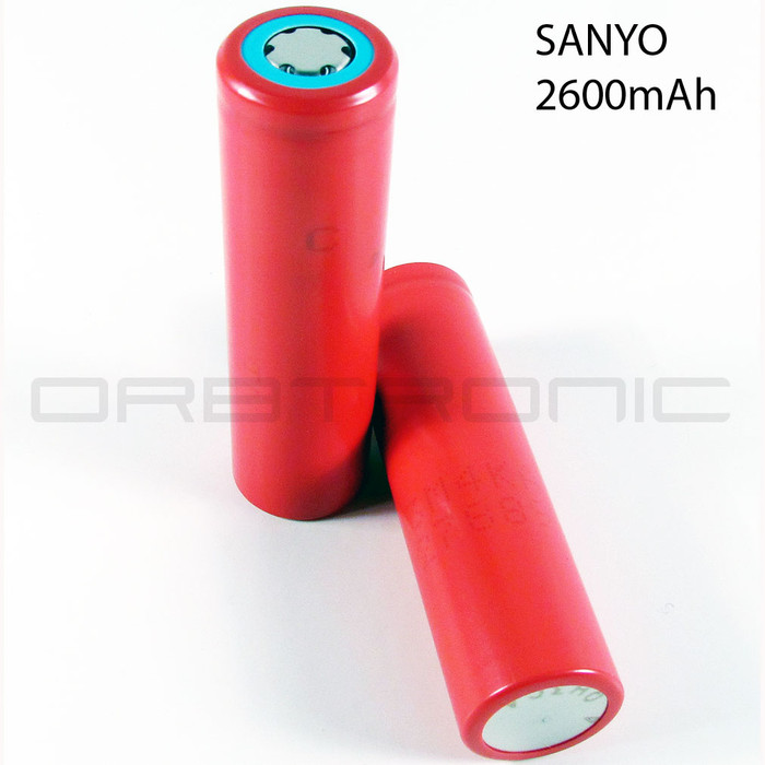 SANYO 18650 Li-ion 3.7V Battery cell 2600mAh