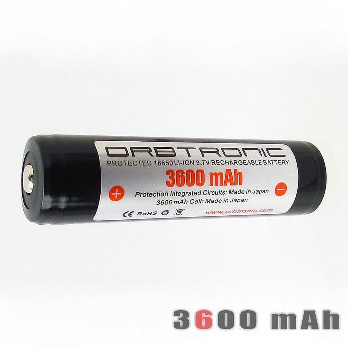 18650 3600mAh Li-ion Battery