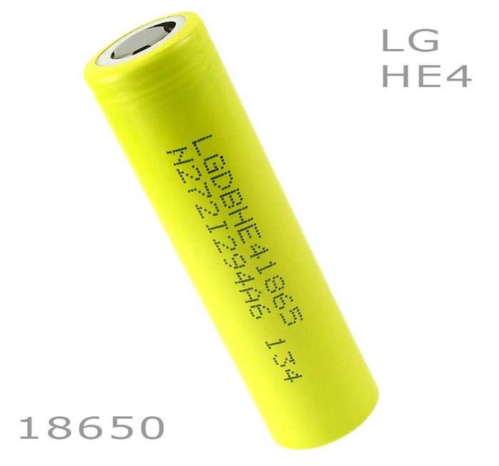 LG HE4 18650 battery