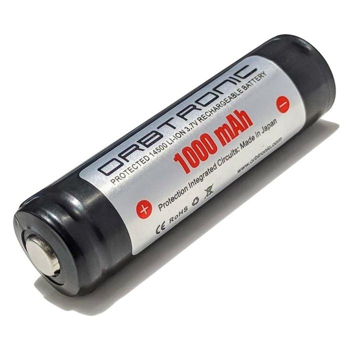 14500 Protected Battery 1000mAh Orbtronic 3.7V