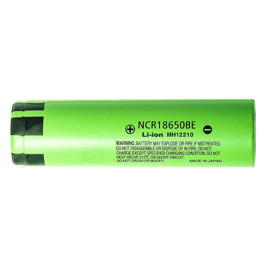 18650 Battery Panasonic Ncr18650be 3200mah Rechargeable Li Ion Orbtronic Protection Circuit For Led Torch Sanyo Cell 37v Flat Top Case Included