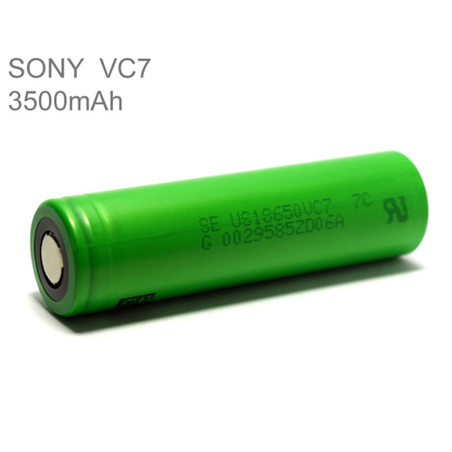 Sony VC7 18650 3500mAh Li-ion Rechargeable Battery Flat Top Green High Capacity