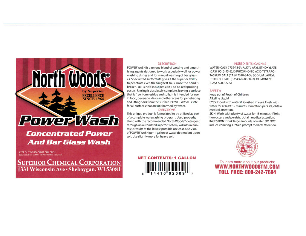 Power Wash Concentrated Power & Bar Glass Wash