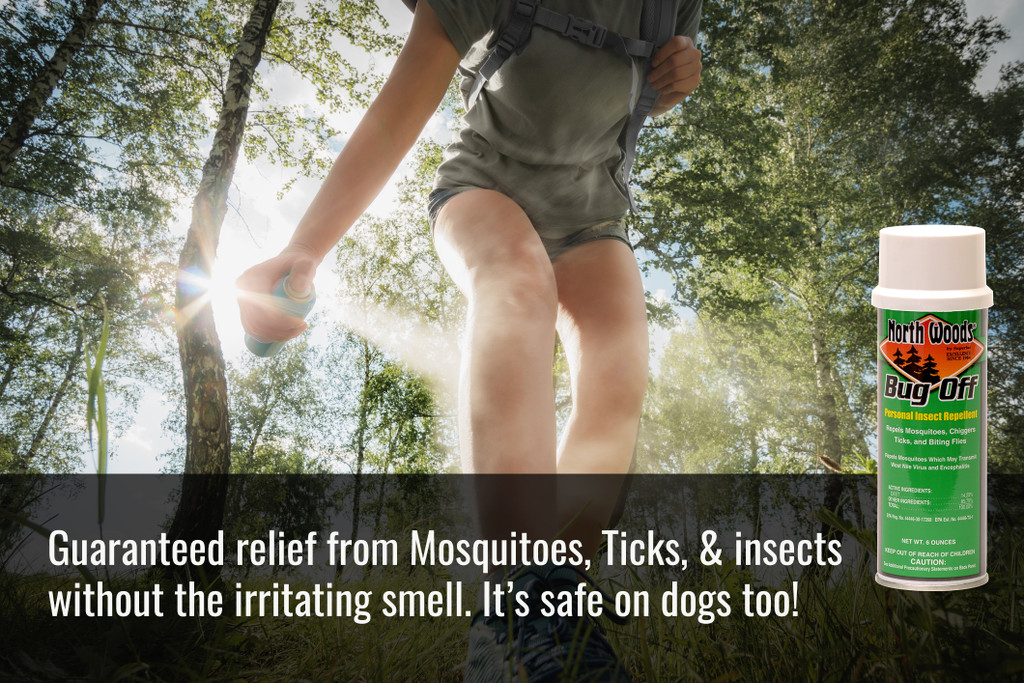 Guaranteed relief from Mosquitoes, Ticks, & insects without the irritating smell. It's safe on dogs too!
