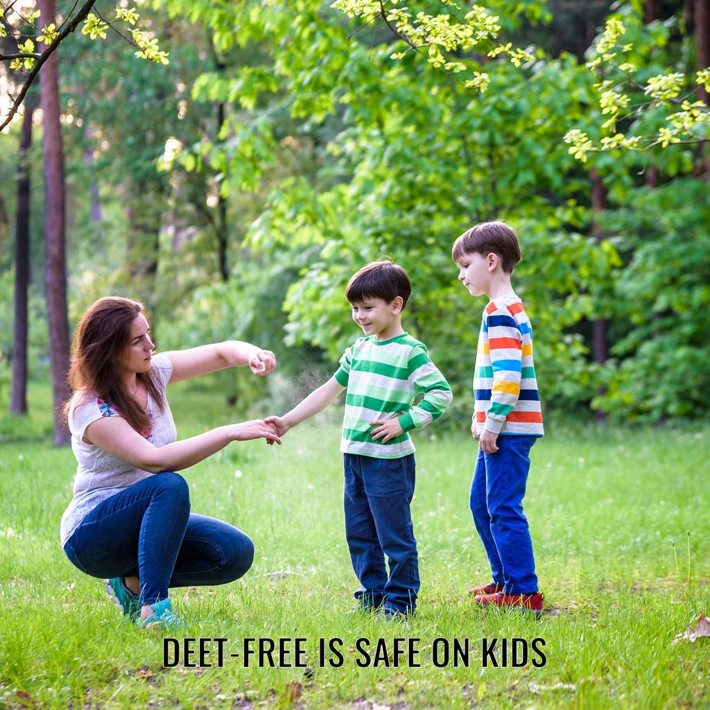 DEET Free is a bug repellent that is safe on kids, including infants