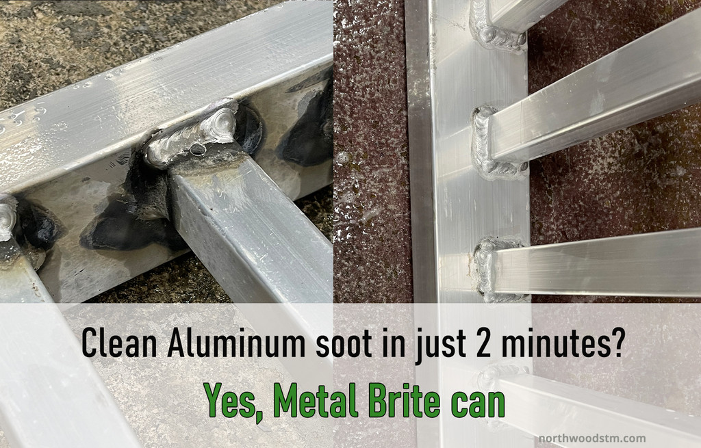 Clean aluminum soot and oxidation in minutes