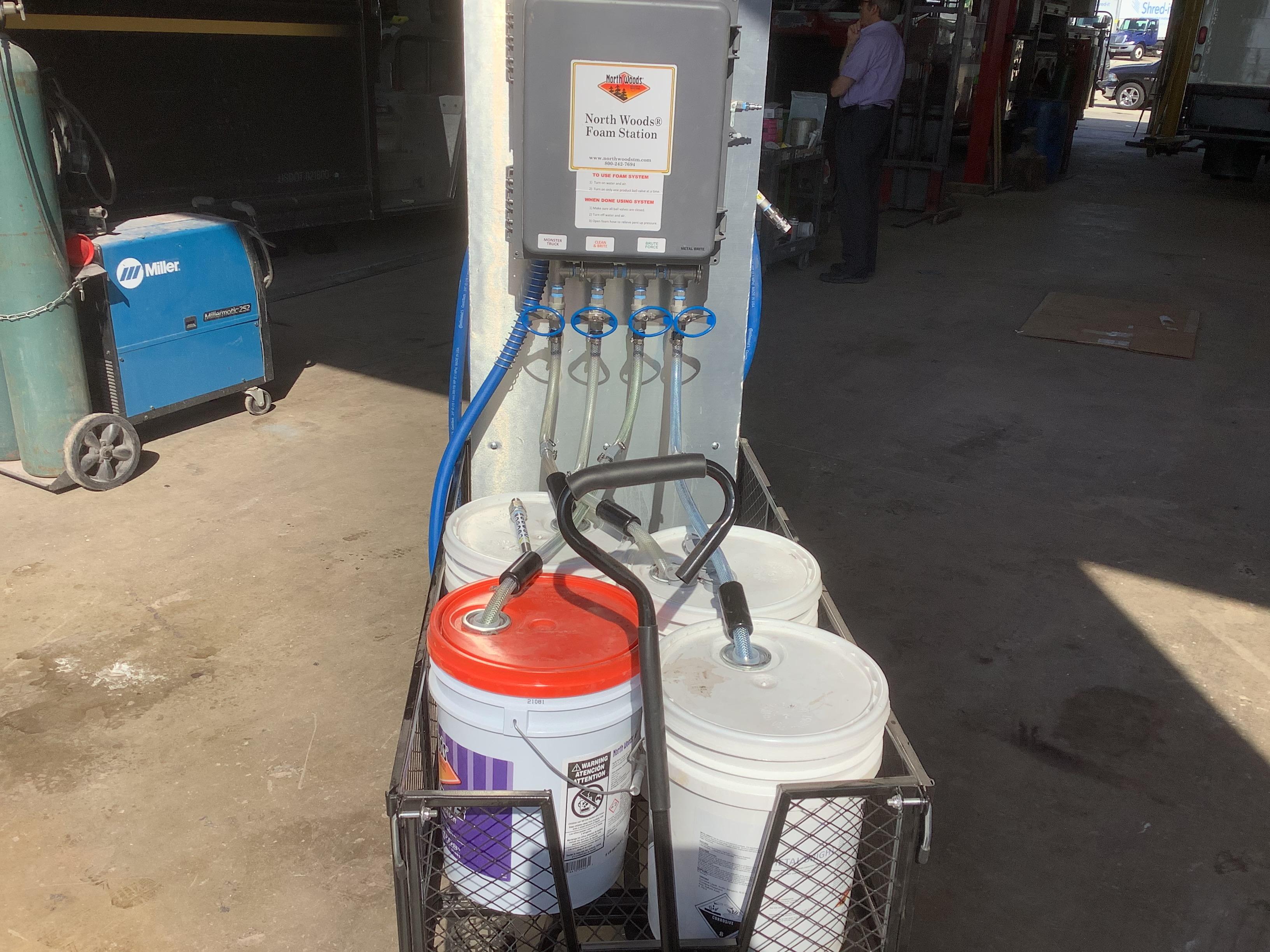 Metal Brite Application in a Mobile Foam Cart