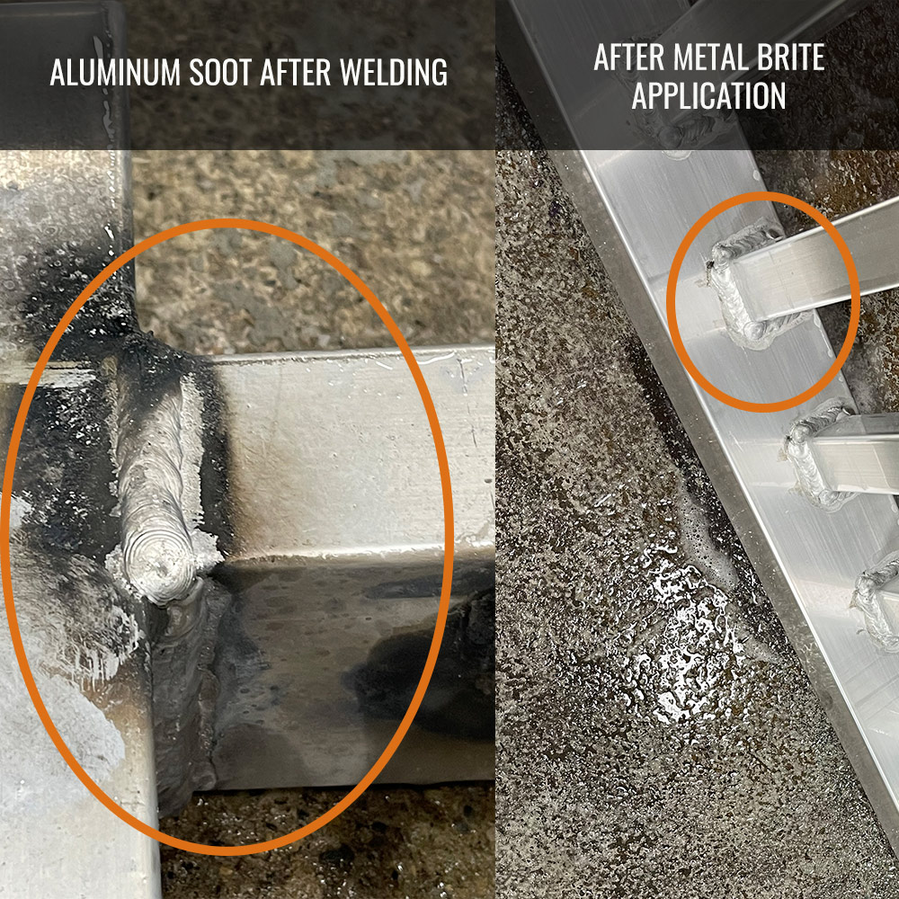 Metal Brite Before & After Aluminum Cleaning