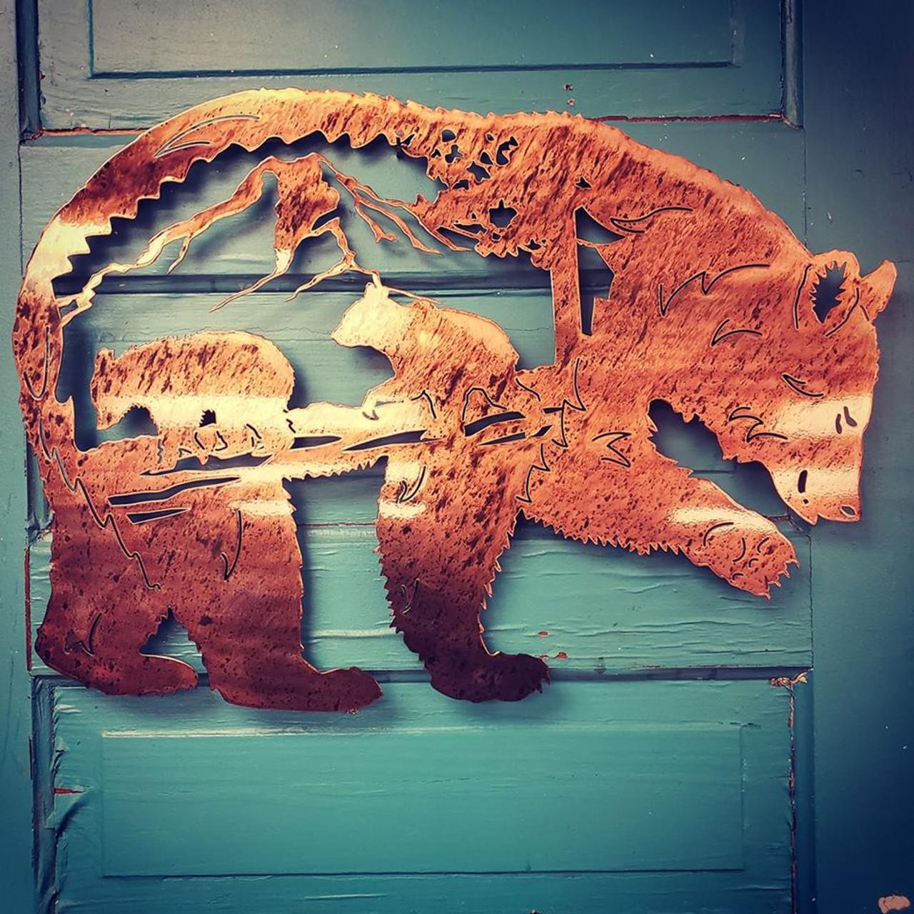 Metal Worx Inc >> Mother Bear And Cubs Metal Worx Inc
