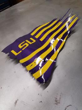 """24"""" x 14"""" LSU Battle Worn Flag"""