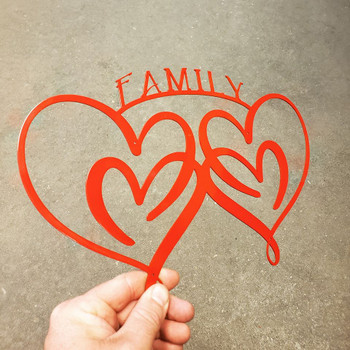 """Family of Hearts"" Sign"