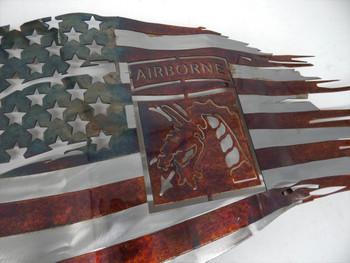 """24""""x 14"""" 18th Airborne Battle Worn Flag"""