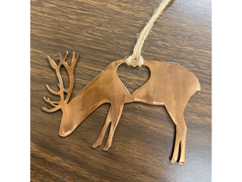 Deer With Heart Ornament