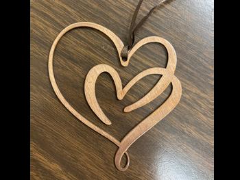 Double Heart Ornament