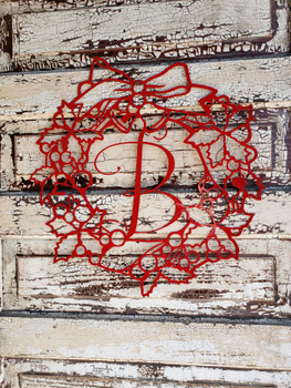 Christmas Wreath Letter Monogram