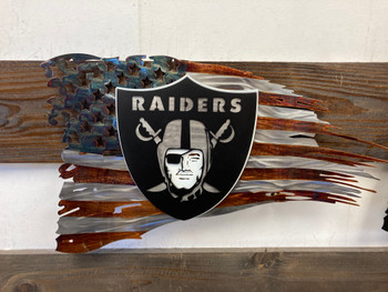 "24"" x 14"" Patina Raiders Flag"