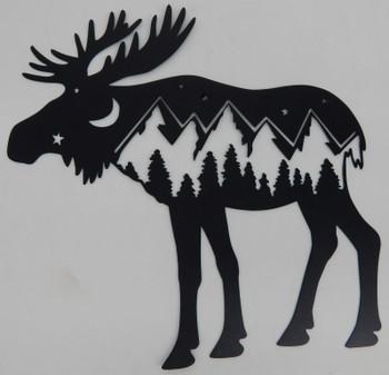 Mountain Moose Scene
