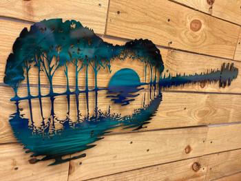 Teal Reflection Guitar